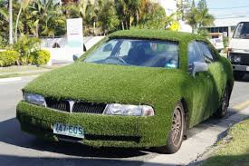 astroturf they did a good job astroturf covered car for sale geekologie