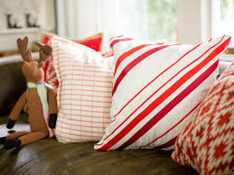 festive entryway decorating ideas for the holidays hgtv sew peppermint stripe pillow