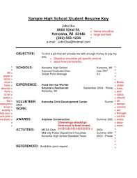 Good Resume Example For High by Job Resume Examples For Highschool Students 69 Images High