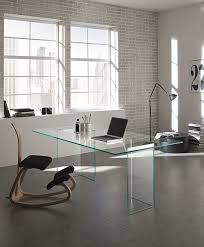 Glass Desk Table Best 25 Glass Desk Ideas On Pinterest Glass Office Desk Best