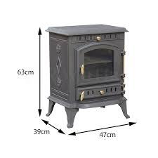 8kw cast iron multifuel woodburning stove amazon co uk kitchen