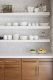 Tile Backsplash For Kitchen by Farmhouse Open Shelves Love The Color On Bottom But Maybe White