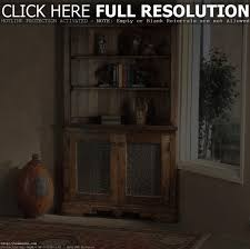 farmhouse corner hutch pine wood hutches inside corner kitchen