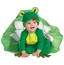 Infant Bunting Halloween Costumes Baby Lily Pad Frog Bunting Costume Animal Costumes Adorable
