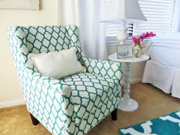 Teal Accent Chair Comfortable Blue And White Quatrefoil Pattern Accent Chair Of