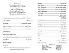 wedding program templates free weddingclipart com wedding