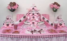 brown and pink baby shower cakes party xyz