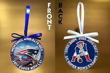 new patriots bowl nfl ornaments ebay