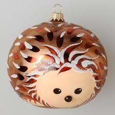 hedgehog 8cm glass ornament ornaments 2015