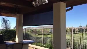 hunter douglas outdoor sun screen with motorized open close youtube