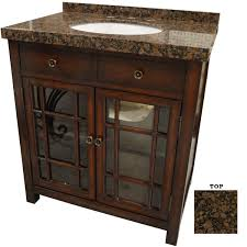afd brown stone top bathroom vanity features two glass front