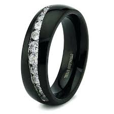 black wedding rings for mens black wedding band with black diamonds black band black