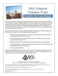 funeral expenses funeral expense trust
