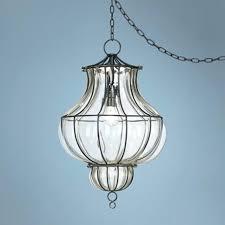 Ceiling Lamp Plug In by Plug In Swag Chandelier Lighting Plug In Ceiling Light Opal Glass