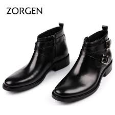 mens dress ankle boots leather boots image