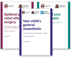 patient information leaflets the royal college of anaesthetists
