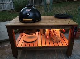 how to build a weber grill table page 1 of 2 cedar akorn table complete posted in do it yourself