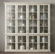 restoration hardware china cabinet casement 4 door glass sideboard glass hutch