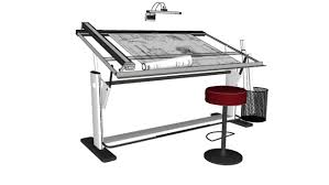 Drafting Drawing Table Draft Machine Draft Table Desk Drawing Table 3d Warehouse