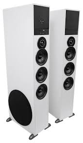 home theater equalizer rockville tm150w white powered home theater tower speakers 10