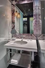 nice simple design of the modern powder rooms that has whhite wall