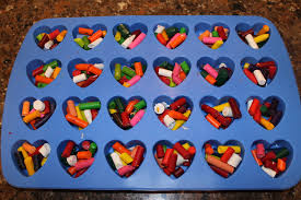 diy crayon hearts and valentine u0027s day cards craft for kids