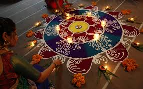 Home Decoration Ideas For Diwali Diwali 2015 Your Guide To Making Traditional Indian Floor Art Rangoli