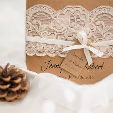 graceful vintage rustic folded wedding invitations lace ewls045 as
