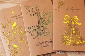 sen is hollow out kraft paper eight big card delicate birthday