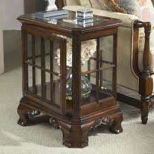 end tables designs manchester curio end table with glass top and