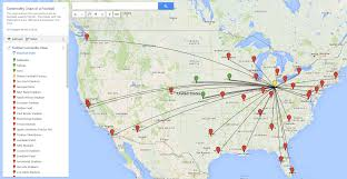 Arrowhead Stadium Map Commodity Chain Of A Football This Site Details The Commodity