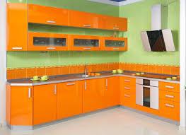 orange kitchen design green tile wall orange kitchen detail best inspirations