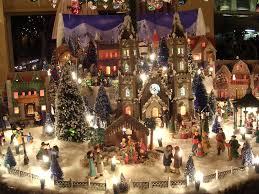 the history of the putz village the golden glow of christmas past