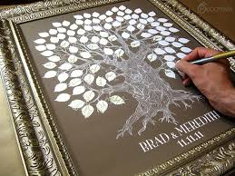 tree signing for wedding wedding guest book tree the oakwik a peachwik interactive