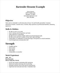 Bartender Responsibilities Resume Resume Objectives Customer Service Resume Template And Server And