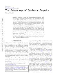 bureau avec ag e int r the golden age of statistical graphics pdf available