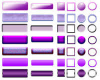 different colors of purple 9 purple web buttons stock vector illustration of round 3523705