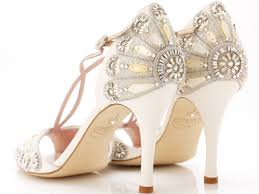 wedding shoes embellished look gatsby chic in a pair of embellished t bridal heels