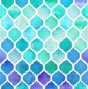 blue quatrefoil wallpaper moroccan fabric wallpaper gift wrap spoonflower