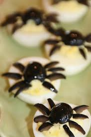 deviled spide eggs for halloween u2014 shockingly delicious