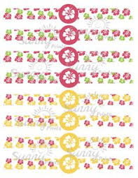 printable napkin rings free printable luau napkin rings from party planning central