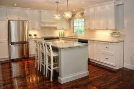 white l shaped kitchen with island monochromatic kitchen transitional kitchen decor