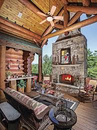 a georgia log home in the mountains
