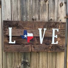 texas flag love pallet sign recycled wood pallet sign texas