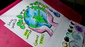 how to draw save water save trees save nature color drawing