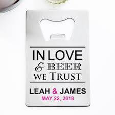 personalized bottle opener favor in personalized credit card size bottle opener wine theme