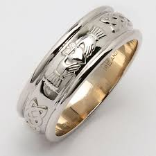 claddagh wedding ring wedding ring men s wide corrib claddagh wedding band at