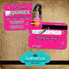 quinceanera party invitations buy our new pink stars quinceanera invitations credit card