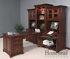 Home Office Executive Computer Desk Custom Built Hardwood Furniture By Homestead Furniture Made In Usa