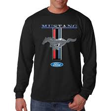 logo ford mustang sleeve t shirt ford mustang logo rad rod